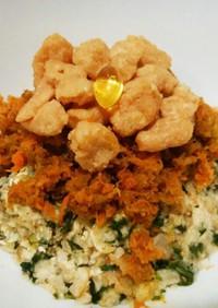 犬ご飯 根菜と鶏ビッツのせ