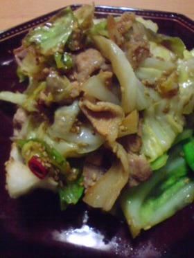 キャベツと豚肉(生姜醤油ver)