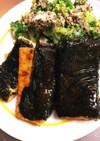 節約!ご馳走!豆腐海苔巻きステーキ!