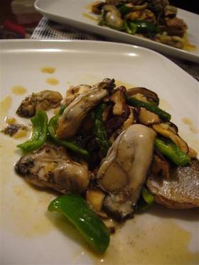 ブリと牡蠣のガーリックバター焼き