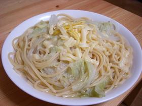 和風?あり物冬野菜とゆずのスープパスタ