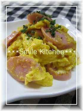 ✿お魚ソーセージ&卵のマヨ炒め✿