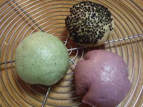 蒸しパン3種