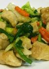 トンカツ肉で中華野菜炒め