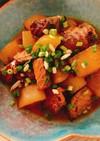 鯖の味噌煮缶で鯖と大根の煮物