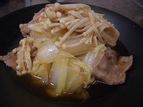 白菜と豚肉のスピード煮物♪