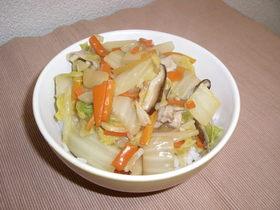 白菜たくさん消費。栄養満点の中華丼