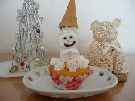 スノーマンプチデコレーションケーキ