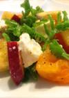 柿とさつまいものクリームチーズサラダ