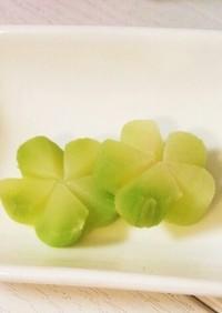 ブロッコリーの芯でグリーンのお花♡