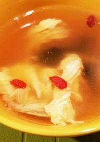 キクラゲと卵の中華風スープ