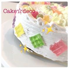 ケーキの簡単デコに☆キラキラ ジュエリー