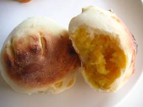 ノンオイル&レンジでかぼちゃクリームパン