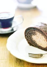 しっとりチョコレートロールケーキ