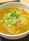 【龍愛】もやしとえのきのキムチチゲスープ