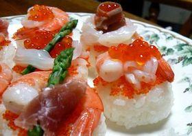 タルトみたいなお寿司