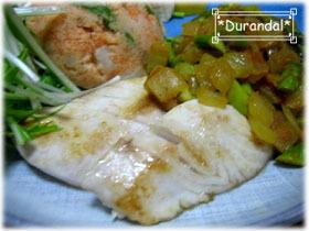 白身魚バターソテー♫野菜添え