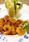 むきえびの蜂蜜醤油焼☆野菜スティック添え