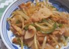 モヤシと豚バラ肉炒め