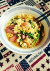 簡単!炒り卵と小松菜入味噌ラーメン