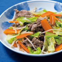 牛肉と野菜のしゃぶしゃぶ風