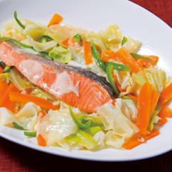鮭の野菜蒸し焼き