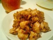 すりおろしリンゴの鶏肉炒めの写真