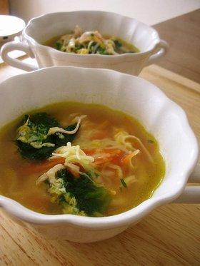 にんじんとハムのかきたまスープ