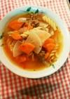 牛肉と根菜のトマトスープ【実家レシピ】