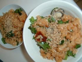 カキの韓国風炊込みご飯