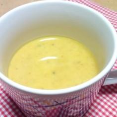 皮むかずに、かぼちゃのスープ