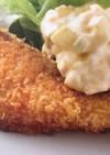 鮭フライのタルタルソースのせ