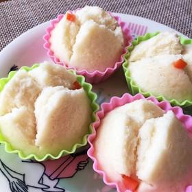 アレッ子の離乳食☆圧力鍋で米粉の蒸しパン