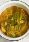 野菜が沢山!辛めの手抜き酸辣湯風スープ