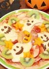林檎とモッツァレラのフルーツおばけピザ