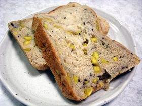 HBで☆たっぷりさつま芋と胡麻のパン