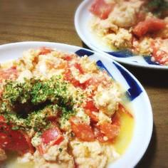 10分で★トマトとツナと卵の炒めもの