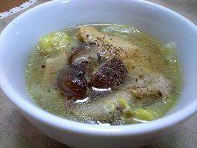 ぷるるんっ♪手羽先と白菜のスープ