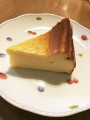 ベイクドチーズケーキの写真