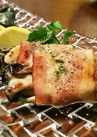 ✿牡蠣のベーコン巻き✿ バターの風味