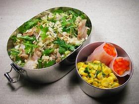 ナンプラー豚と緑野菜の混ぜごはん