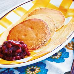 ホットケーキMIXでもっちりパンケーキ