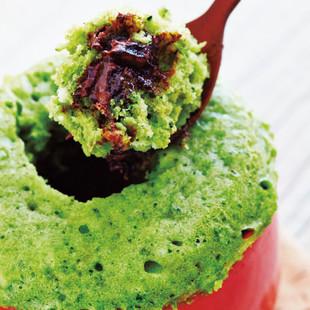 ホットケーキMIXでふかふか蒸しとろカップケーキ 抹茶チョコレート