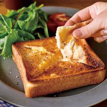 食パンでチーズフォンデュトースト