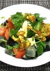 ピータンと豆腐の中華風サラダ