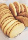 自分用メモ。さくさくきなこクッキー。