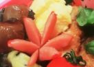 お弁当に*赤ウインナーのお花*
