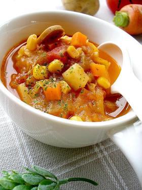 2日寝かせる野菜のスープ