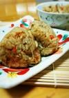 鶏とごぼうの炊き込みご飯~おにぎり仕様