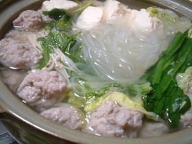 ふんわりやわらか☆肉団子の土鍋煮込み